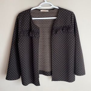 Esprit Large open cardigan black and gold